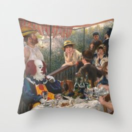 IT's Pennywise in Luncheon of the Boating Party Throw Pillow