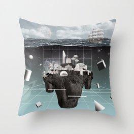 Utopia//Eutopia Throw Pillow