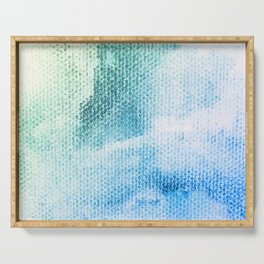 Textured Pastel Cotton-Candy Clouds Design Serving Tray