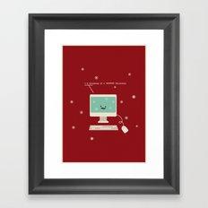 I'm Dreaming a #FFFFFF Christmas Framed Art Print