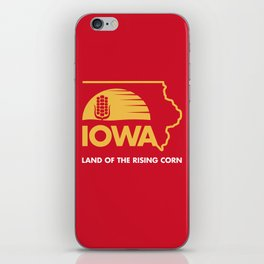 Iowa: Land of the Rising Corn - Red and Gold Edition iPhone Skin