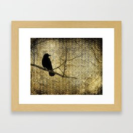 Crow Of Damask Framed Art Print