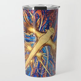 Neon Nautical Bouquet Travel Mug