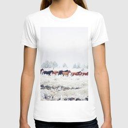 Winter Horse Herd T-shirt