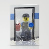 police Stationery Cards featuring Police Officer by Pedro Nogueira