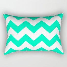 Mint Chevron Rectangular Pillow