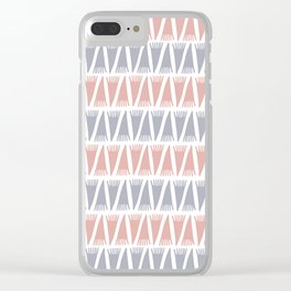 Tee Pee Pastel Clear iPhone Case