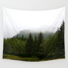 Foggy morning at the Lake Wall Tapestry