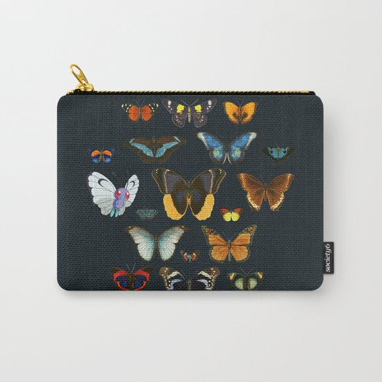 Entomology Vintage Butterfly Carry-All Pouch