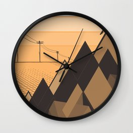 Little mountains and a car  Wall Clock