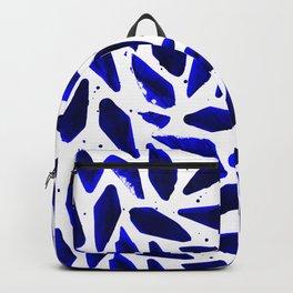 Cobalt Blue Ink Blots Backpack