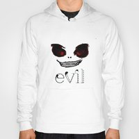 evil Hoodies featuring Evil by Timkirman