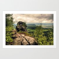 poland Art Prints featuring  Table Mountains in Poland by Kamil Sypień