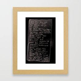 PLEASESTAYLEGEND. Framed Art Print