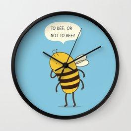 confused bee Wall Clock