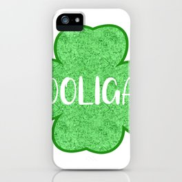 St Patricks Day Hooligan Shamrock iPhone Case