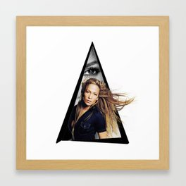 Youtriangle ∆ JenniferLopez Framed Art Print