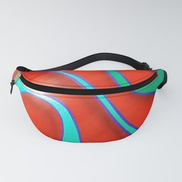 Flaming Red Hot Rod Fanny Pack