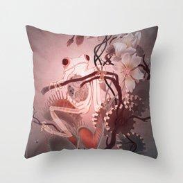 Clockwork Frog Throw Pillow