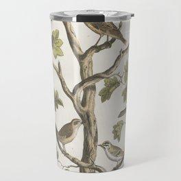 Vintage Naturalist Birds Travel Mug