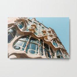 Antoni Gaudi Architecture, Casa Batllo Barcelona, City Facade, Spain Summer Travel Metal Print