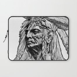 Chief / Vintage illustration redrawn and repurposed Laptop Sleeve