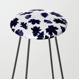 Indigo Blue Sun-Dyed Leaves Counter Stool