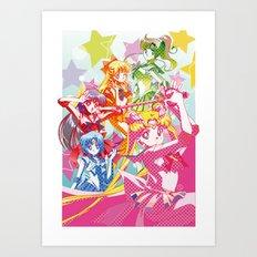 Sailor Moon Dots Team Art Print