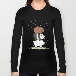 We Bare Bears by Maria Piedra Long Sleeve T-shirt