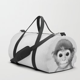 Baby Monkey - Black & White Duffle Bag