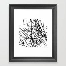 Daisy Scribble Framed Art Print