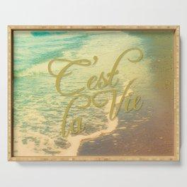 Beach Waves I - C'est La Vie Serving Tray
