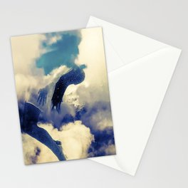 Woman and sky Stationery Cards
