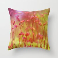 moss Throw Pillows featuring Moss by LoRo  Art & Pictures