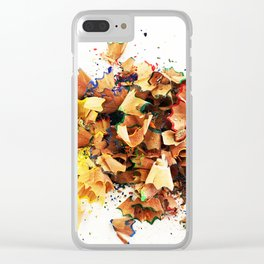 Pencil shavings 2 Clear iPhone Case