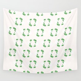 Holiday Wreath Pattern Wall Tapestry