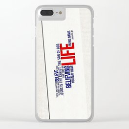 Life in His Name Clear iPhone Case