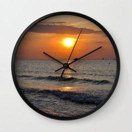 SUMMERFEELING - Sunset - Baltic Sea  Wall Clock