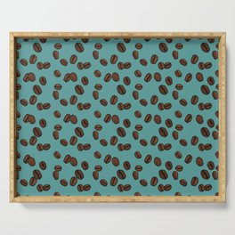 Coffee Beans - Teal Serving Tray