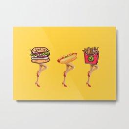Fast food, great legs Metal Print