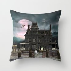 Haunted House 1 Throw Pillow