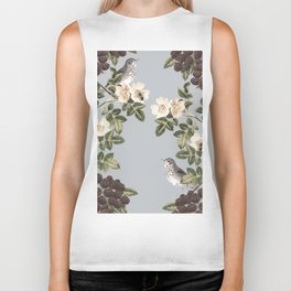 Birds and the Bees Gray Biker Tank