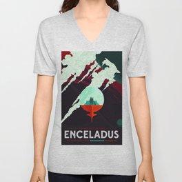 Vintage poster -Enceladus Unisex V-Neck