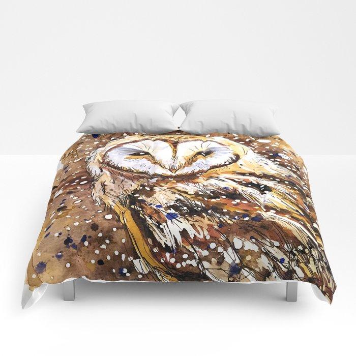 winter's owl Comforters
