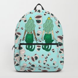 Star Butts Coffee Mermaids Backpack
