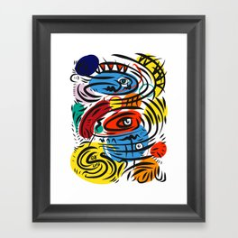 Joyful Life Abstract Art Illustration for Kids and Everyone Framed Art Print