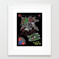 inner demons Framed Art Prints featuring Inner Demons by Becky Doyon