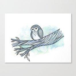 The Blue Owl Canvas Print