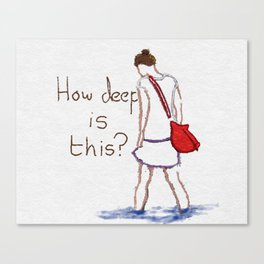 How deep is this? Canvas Print
