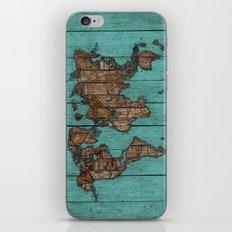 Wood Map iPhone Skin